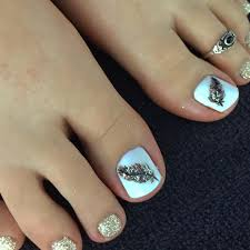toenail art design pink and black toes diseño de uñas de pies toe