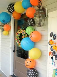easy front porch d i y s for halloween outdoor decorations for
