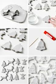 diy clay christmas decorations diy clay tree decorations and
