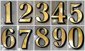 glass door number signs 1 x gold transom or fanlight house number