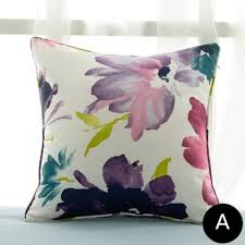 Cushions Shabby Chic by Purple Watercolor Flower Cushions Shabby Chic Throw Pillows For