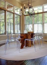 Lucite Dining Room Chairs Orlando Lucite Folding Chairs Dining Room Transitional With Clean