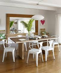 Modern Glass Dining Room Table Dining Room Art Ideas Ivory Tufted Faux Leather Dining Chairs