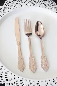 gold plastic silverware sale 200 faux copper cutlery plastic forks knives tableware