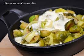 cuisiner poireaux recette de poêlée de choux de bruxelles et poireaux béchamel au curry