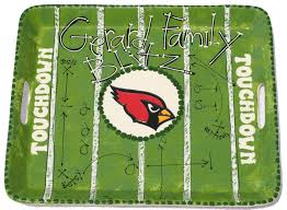 themed serving tray painted football serving tray as you wish pottery sports