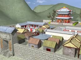 Ancient China Map Ancient China Render 7 U2013 Kakes U0027 3d Learning Maya