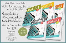 graphing calculator activities bundle ad