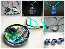 resin necklace pendants images Diy aqua collection how to make resin jewelry jpg