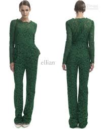 green jumpsuits 2018 2013 fashion designer green lace casual
