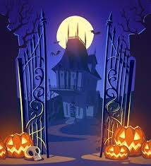 Castle Backdrop Halloween Backdrop Decorush01 Billybullock Us