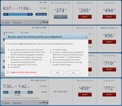 Delta Airlines Baggage Fees Delta Warns You Prior To Purchase Of Basic Economy Fare U2014 But Is