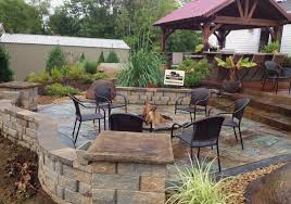 Patio Concrete Designs Stamped Concrete Patio Photo Courtesy Of The London Landscaping