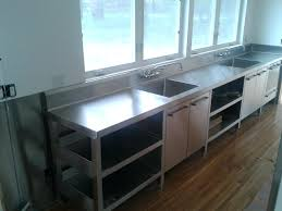 stainless steel countertop with built in sink stainless steel countertop with sink kitchen integrated drainboard