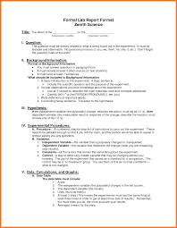 formal lab report template lab report format sow template