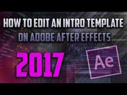 how to edit an intro template on adobe after after effects cc cs