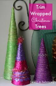 christmas craft trim wrapped christmas trees