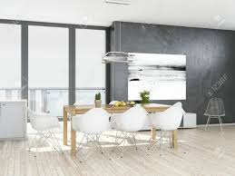 Gray Dining Room Beautiful Grey And White Dining Room Contemporary Home Design