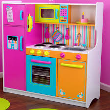 Toy Kitchen Set Wooden Accessories Magnificent Big Kids Play Kitchen Very Realistic Set