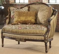 shirred silk settee luxury fine home furnishings