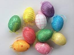 glitter easter egg ornaments easter egg tree glitter ornaments pack of 12 health