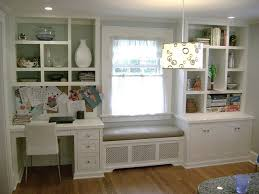 kitchen desk window seat and boocase desks drawers and window