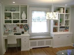 Window Seat Bookshelves Kitchen Desk Window Seat And Boocase Desks Drawers And Window