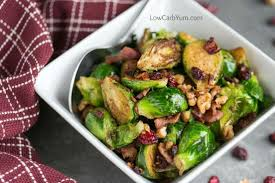 thanksgiving brussel sprouts bacon pan fried brussels sprouts with bacon and cranberries low carb yum
