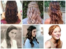 braided hairstyles with hair down braid hairstyle with hair down half up half down wedding day