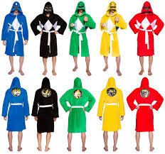 mighty morphin power rangers costume robe power rangers