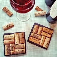 Unique Coasters 4 Wine Cork Slate Coasters Christmas Wedding Engagement