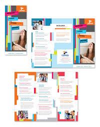 college u0026 university tri fold brochure template