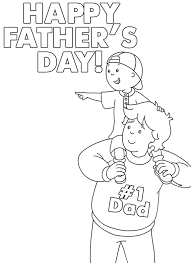 caillou 1 dad u2013 printable father u0027s day coloring sheet caillou
