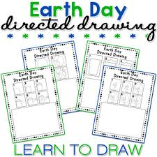 earth day directed drawing activity for including art in any