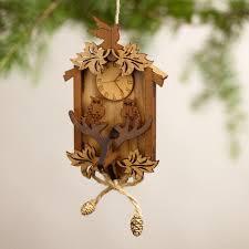 wood cuckoo clock ornaments set of 2 world market