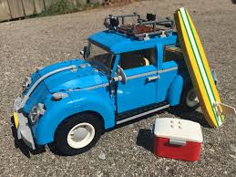 baby blue volkswagen beetle review lego debuts a beach ready classic volkswagen beetle set