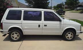 1988 plymouth grand voyager in silver our first mini van cars