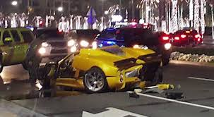 pagani suv pagani zonda f destroyed in dubai crash video