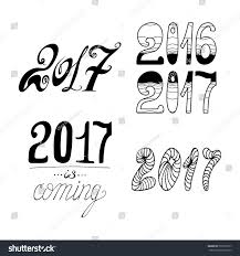 New Year Decoration Elements by 2017 New Year Christmas Decoration Elementsvector Stock Vector