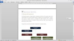 project management office charter template youtube