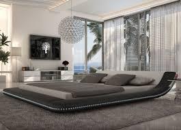 Modern Queen Platform Bed Tosh Furniture Modern Black Platform Bed With Led Lighting Queen