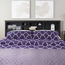 Headboard King Bed Amazon Com Prepac Sonoma Black King Storage Headboard King Bed