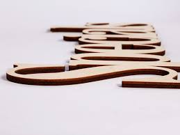 wood words wooden connected letters