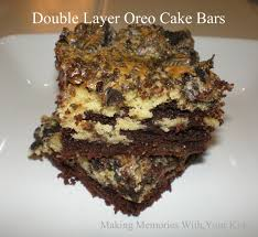 secret recipe club double layer oreo cake bars making memories