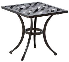 Alfresco Home Outdoor Furniture by Alfresco Home Weave Cast Aluminum 21 Square Side Table 22 2840 Af