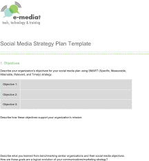 download social media strategy plan template for free tidyform