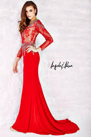 angela and alison 52061 long sleeve sheer lace gown french novelty