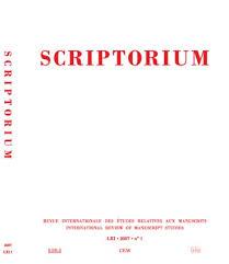 Bulletin codicologique  Persée