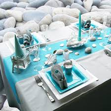 themed table decorations sea inspired table setting and ideas for your themed party
