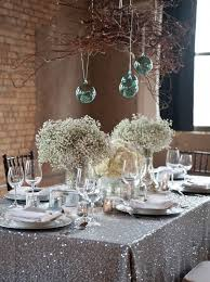 family table in silver decorations founterior
